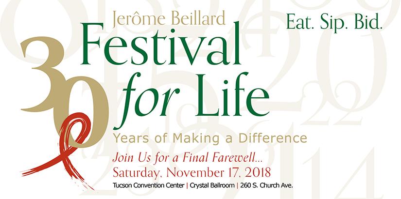 The Jerome Beillard Festival for Life celebrates 30 years on Saturday, November 17, 2018