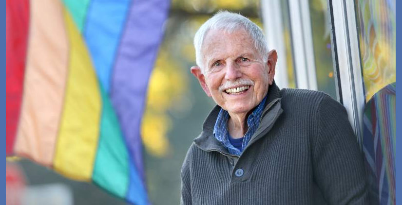 """Gary """"Buz"""" Hermes teaches a class titled """"Aging Gayfully"""" for the Santa Rosa Junior College Older Adults Program."""