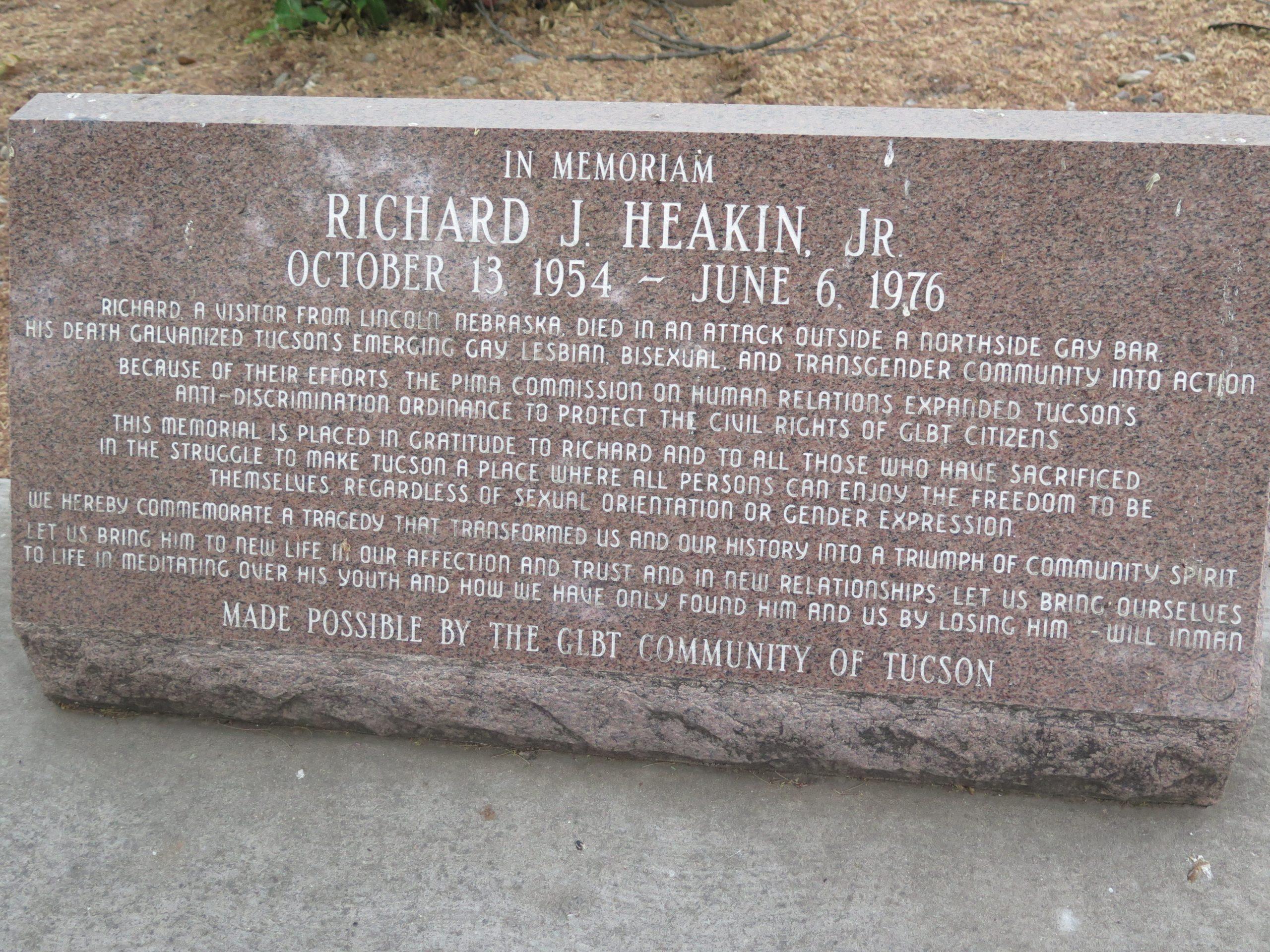 Richard Heakin, Jr., 1954-1976