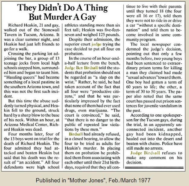 Mother Jones article, Richard Heakin