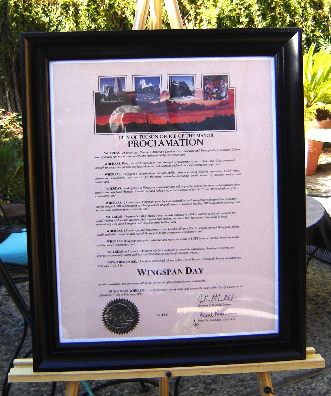 Proclamation of Wingspan Day, February 7, 2013